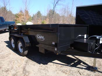 Cam Advantage 2016 10-612Lpdt Dump Trailer Gvwr 9998 W/ Tie Rail, Battery Charger