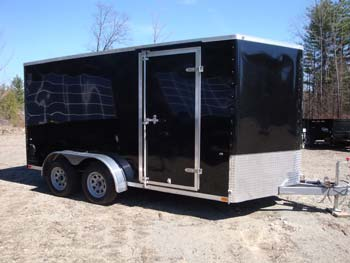 Integrity True Line V Nose 7'X 14' Tandem Axle , Gvwr 7700#, Ramp Door, Black, Has A Few Scratches